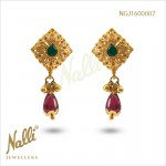 EARRINGS WITH RUBY EMERALD