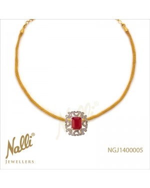 ZIRCON WITH RUBY STONE CHAIN