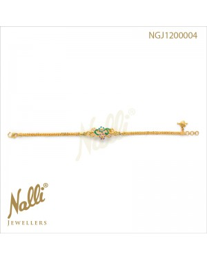 ZIRCON WITH ENAMEL LADIES BRACELET