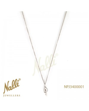 PLATINUM PENDENT WITH CHAIN